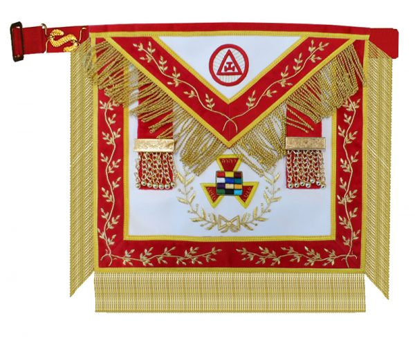 Royal Arch Grand High Priest Apron Wreath Hand Embroidered